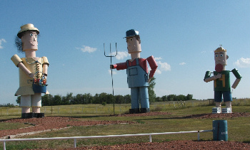 The largest tin family in the world is a folksy beacon to Regent, North Dakota