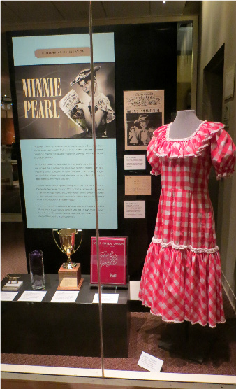 One of Minnie Pearl's iconic outfits