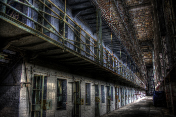 Inside Ohio State Reformatory Cell Block One