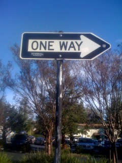 &quot;one way&quot;