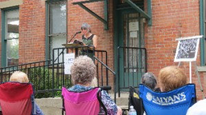 Poet and author Charlene Fix at the last of 2013's Literary Picnics
