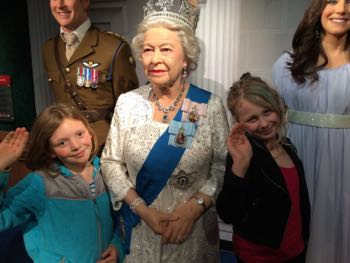Queen Elizabeth at Madame Tussauds.