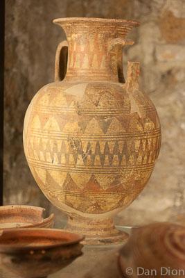 An Etruscan urn.