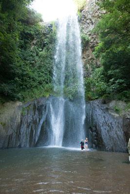 A hidden waterfall in Lazio, Italy.