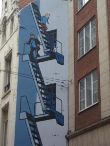 Tintin Comic Strip Mural