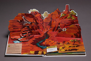 The stunning visuals of this pop-up book make it fun for everyone to learn about national parks. Photo provided by W.W. West.