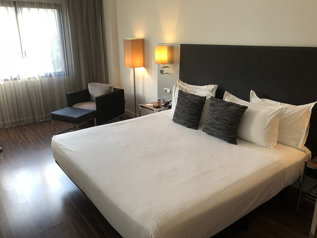 junior suite, ac hotel palau de bellavista, marriott hotel, girona, spain, costa brava