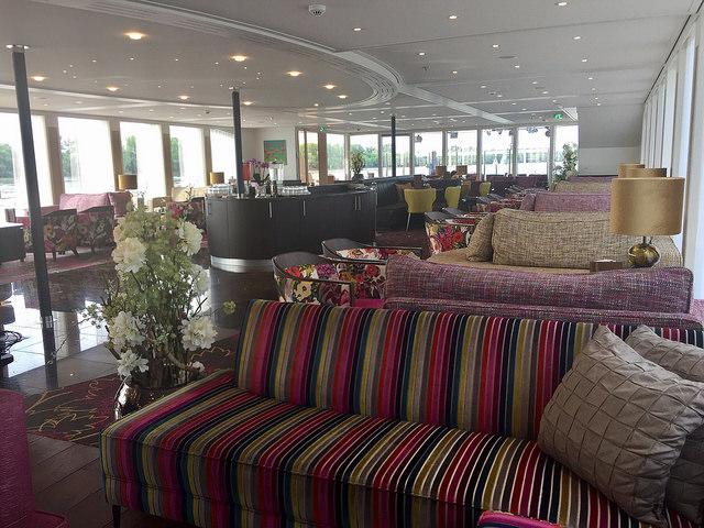 amastella river cruise ship, amawaterways river cruise public area, lounge, danube river, european river cruise ship
