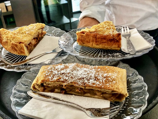 apple strudel at Freiblick Cafe is an Austrian specialty