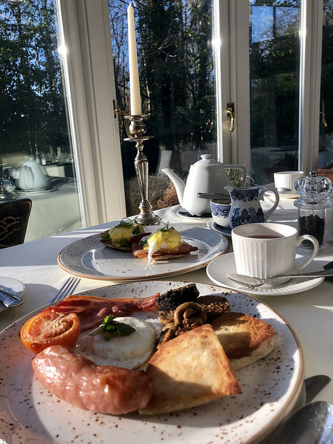 irish fry breakfast, ardtara country house, county londonderry, northern ireland
