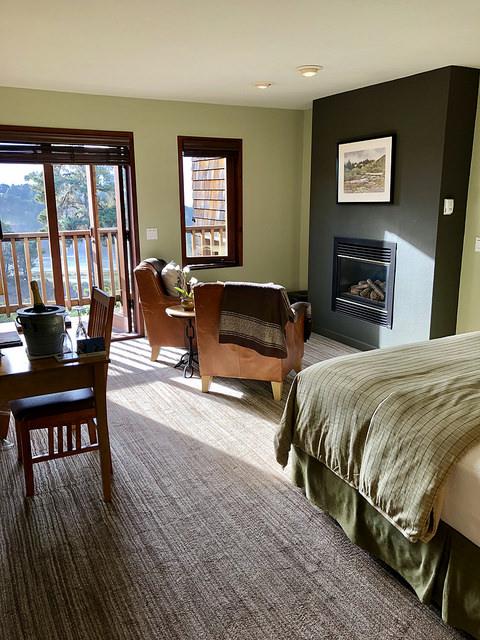 ocean view, heron room, brewery gulch inn, mendocino bed & breakfast, california inn