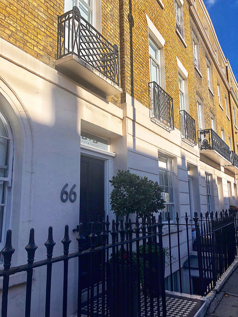 belgravia bed & breakfast, grade II listed building, downtown london, b & b on ebury street