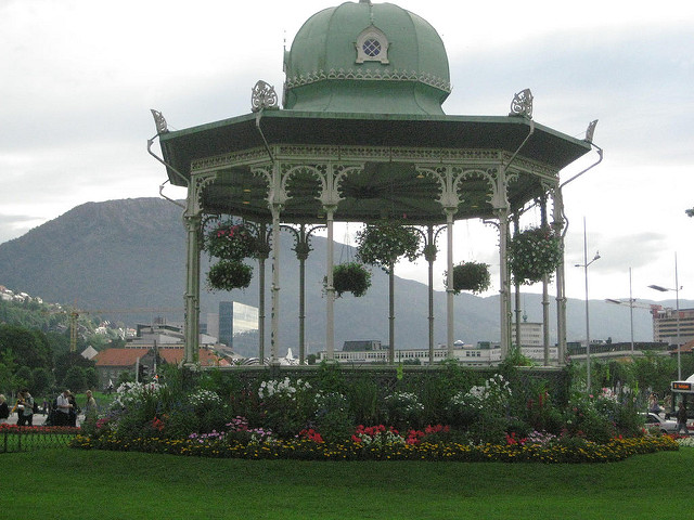 gazebo, bergen, norway