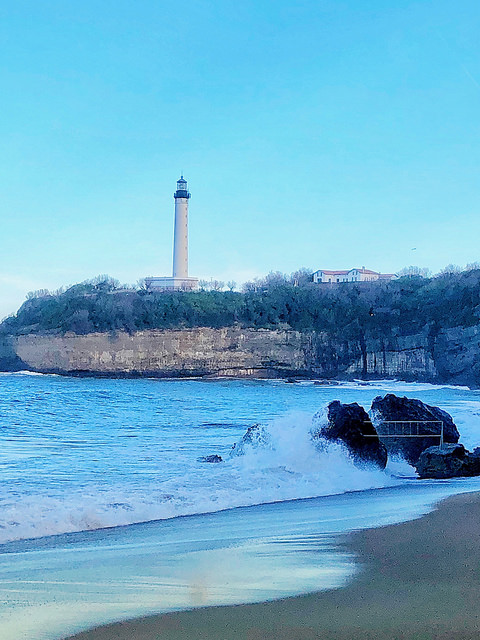 biarritz lighthouse, basque coast, france, nouvelle aquitaine french region