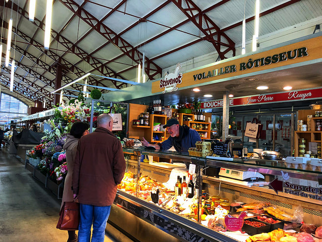biarritz market hall, les halles biarritz, food hall, farmers market, france, basque food