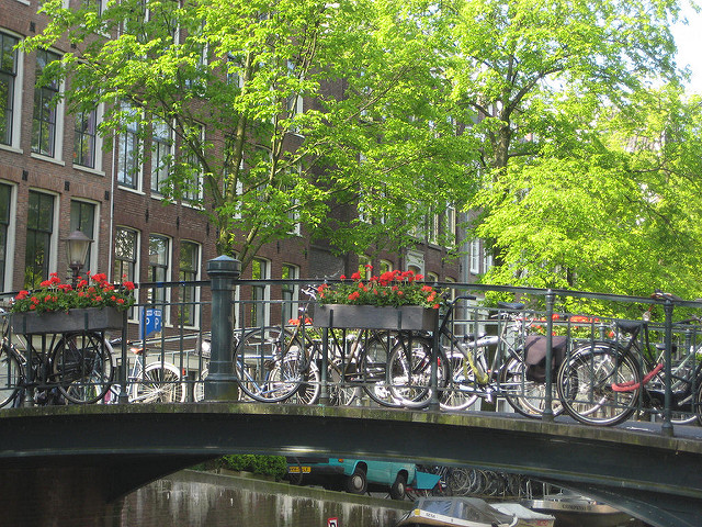 amsterdam, bicycles, cycling, holland, bicycles & bridge
