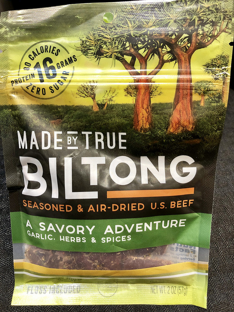 biltong air-dried beef, 7 healthy travel snacks, fancy food show