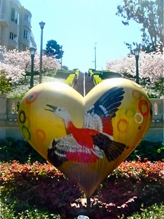 Bird Heart, art, San Francisco, Pacific Heights, California, travel