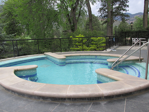 """Broadmoor"" hot tub"