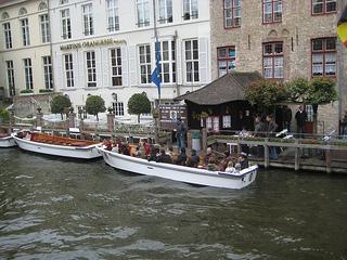 """""""Bruges Canal Boat"""""""