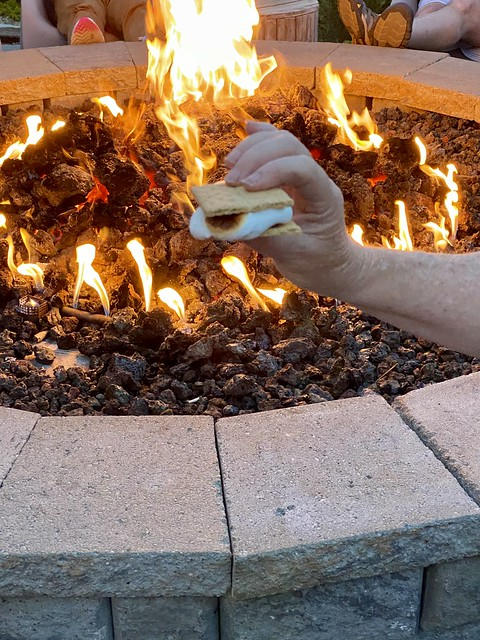 Roast marshmallows and make s'mores at the fire pit at Campfire Hotel in Bend, Oregon.