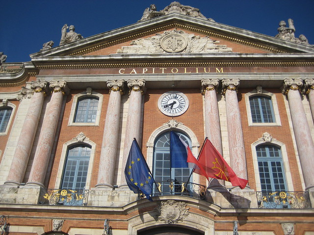 The Capitole or town hall is one of the things to see adn do in Toulouse.