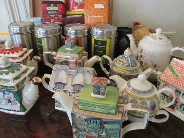 tea pots, cashel house, irelands blue book, tea time, afternoon tea, ireland
