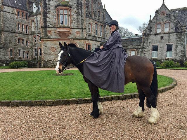nancy d brown, nancy brown, percy, irish cob, horse, castle leslie, castle leslie equestrian centre, side saddle, equestrian, ireland