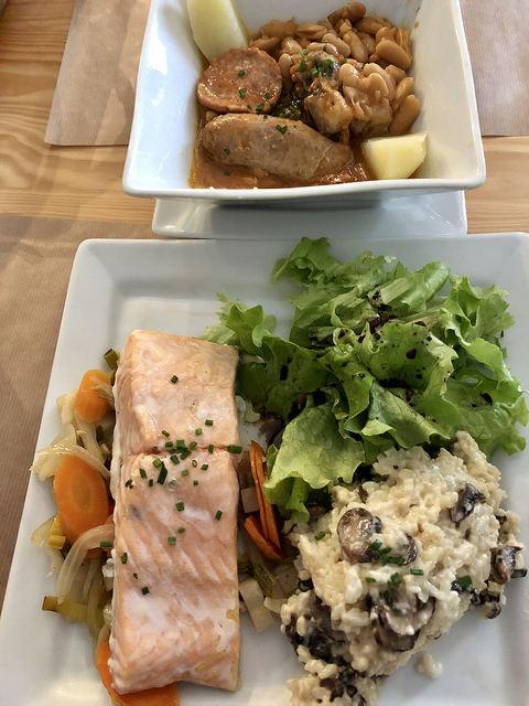 salmon, cassoulet, chai pascal, saint emilion, france, basque food, nouvelle aquitaine