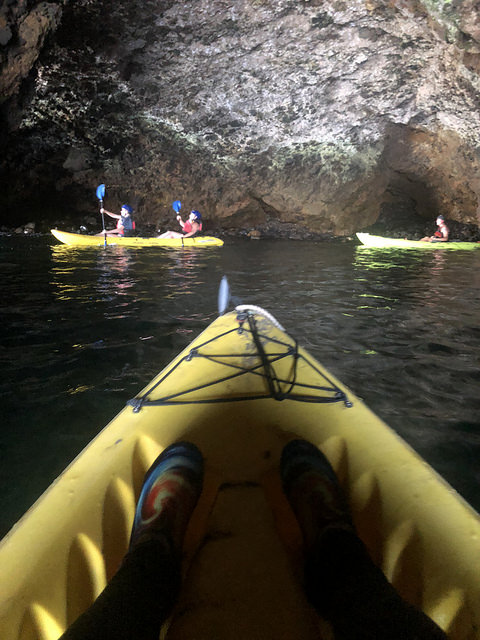 kayak sea caves, travel to channel island by kayak, channel islands adventure company, nancy d brown kayak, ventura county coast, california