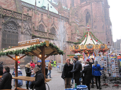 "Christmas Marke, ""Strasbourg Cathedral"" France"