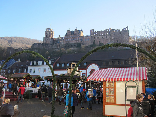 "Christmas Market ""Heidelberg Castle"" Germany"