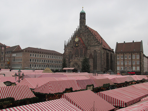 Church of Our Lady, Christmas Market, Nuremberg, Germany