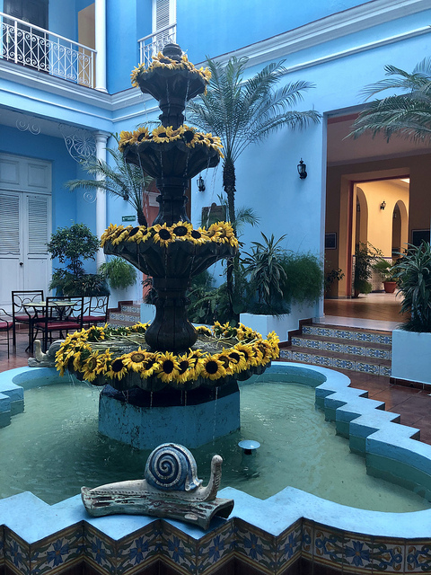 hotel la union, union hotel fountain, 5 things to do in cienfuegos cuba