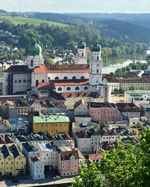 city of three rivers, veste oberhaus, passau, germany, bavaria, passau view