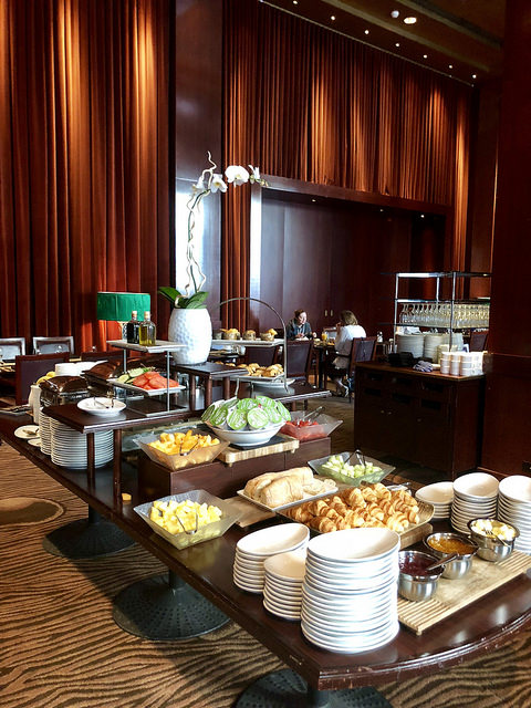 breakfast buffet, clift royal sonesta hotel review, san francisco hotel near union square