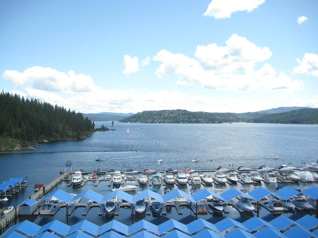 Boats at the dock in Coeur d'Alene, Idaho