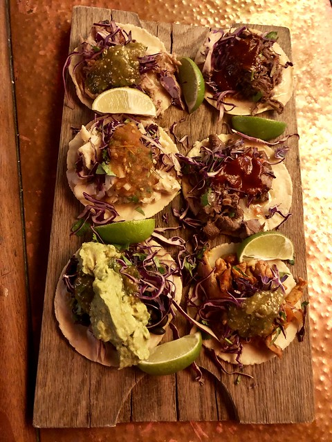 tacos inspired from Oaxaca, Mexico at Cultura restaurant in Carmel, California.