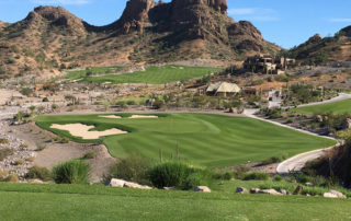 ninth hole, danzante bay golf club at the islands of loreto, loreto, mexico