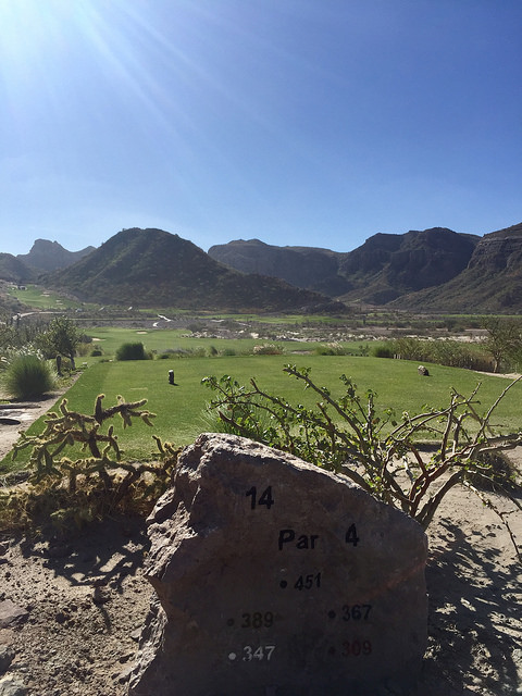 hole 14, danzante bay golf club, islands of loreto, loreto, mexico