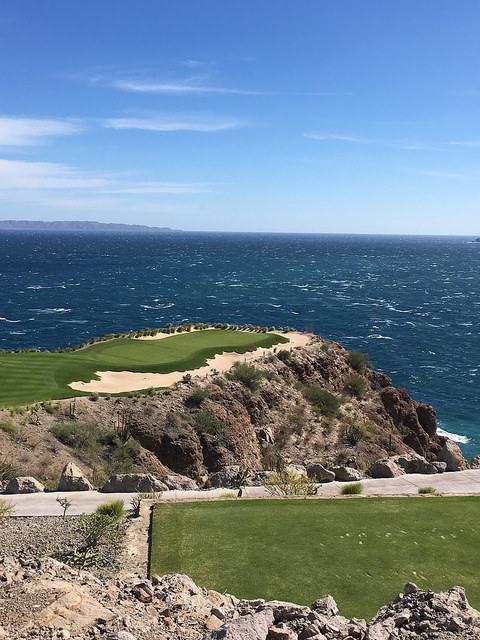 17th hole, danzante bay golf club, islands of loreto, mexico, sea of cortez