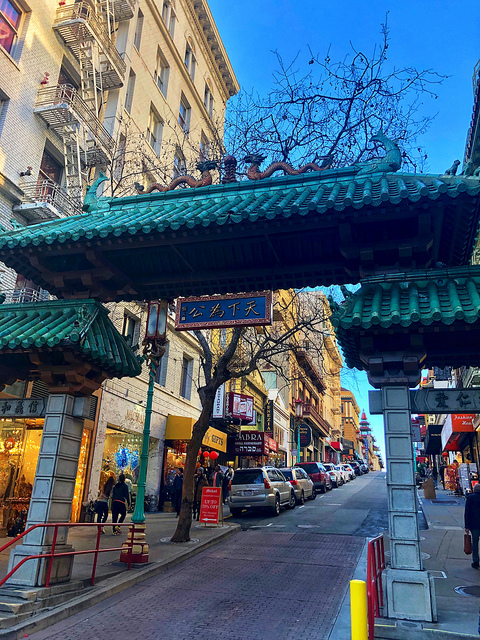 dragon gate san francisco chinatown, grant avenue, california street, san francisco california