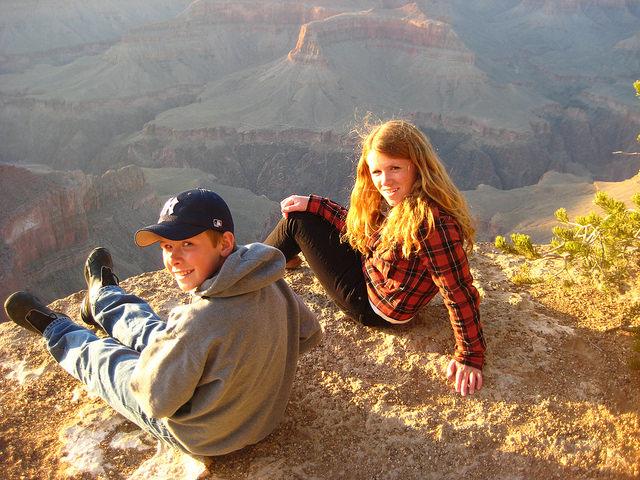 Evan & Kendall Brown, Grand Canyon, Spring Break