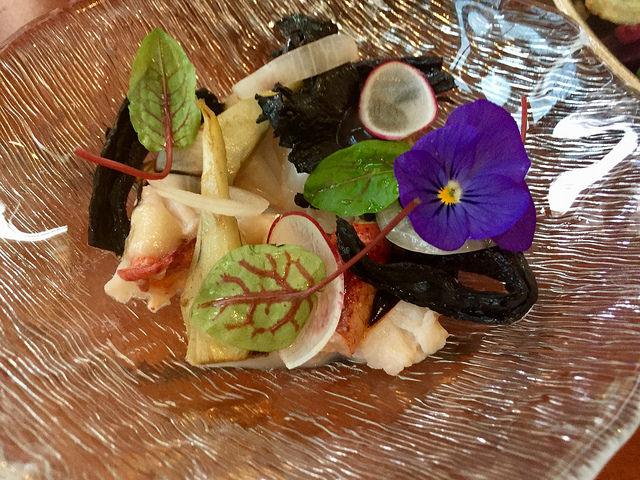 quattro restaurant, lobster appetizer, four seasons palo alto restaurant, four seasons silico valley restaurant