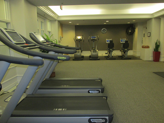 fitness center, fairmont hotel vancouver