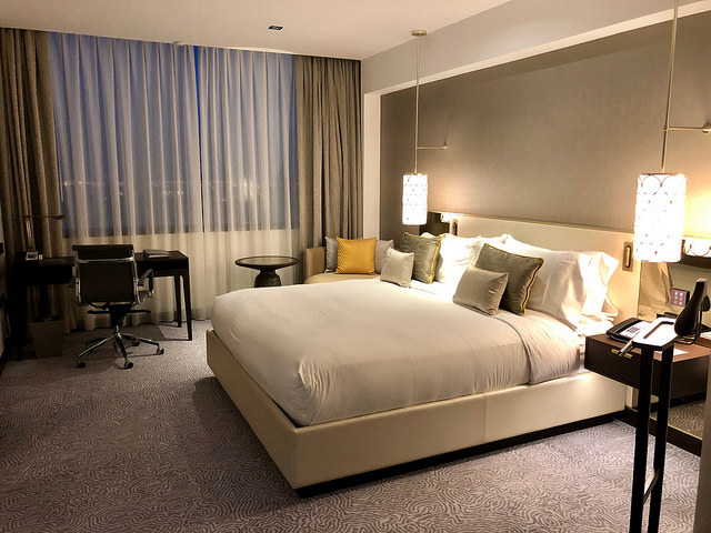 hotel room, fairmont rey juan carlos 1, barcelona, spain