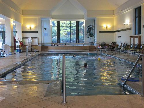pool, Fairmont Le Manoir Richelieu, Quebec, Canada