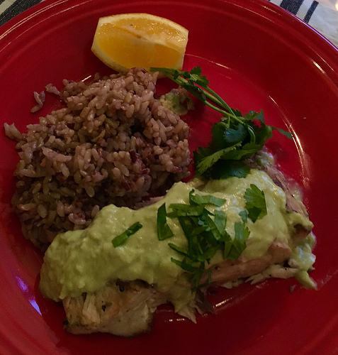 eating clean in costa rica, fish in avocado sauce, cookbook review