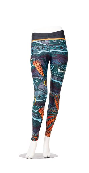 fishewear groovy grayling leggings, travel apparel, travel gift ideas, fishing gift