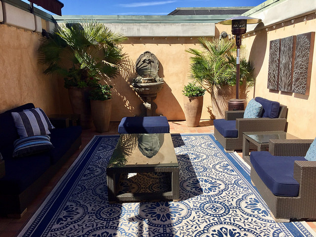 garden court hotel, penthouse, rooftop courtyard, penthouse suite, palo alto, california, hotel